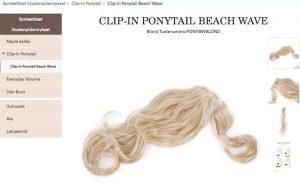 Näin ostat hiustenpidennykset Rapunzel Of Sweden verkkokaupasta - tuotesivu