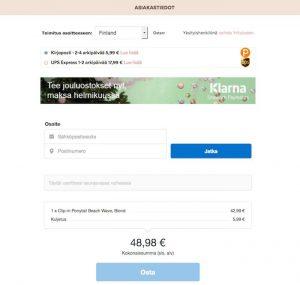 Näin ostat hiustenpidennykset Rapunzel Of Sweden verkkokaupasta - klarna asiakastiedot