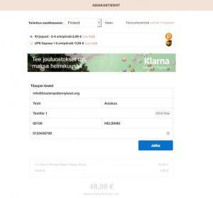 Näin ostat hiustenpidennykset Rapunzel Of Sweden verkkokaupasta - asiakastietojen täyttäminen