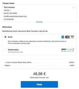 Näin ostat hiustenpidennykset Rapunzel Of Sweden verkkokaupasta - valitse maksutapa tarjolla olevista vaihtoehdoista