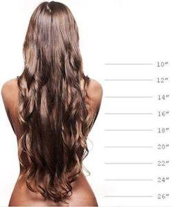 hiustenpidennysten pituus